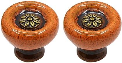 Creatwls 2 stks Ronde Deur Handvatten Europese Keramische Vintage Kast Dressoir Laden Knoppen Kast Handvatten Kast Kast Kn...