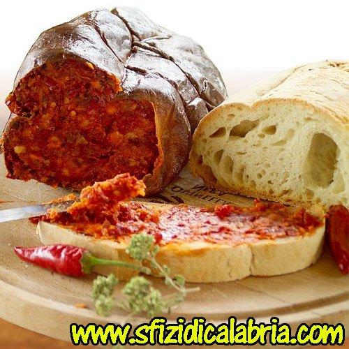 1kg Nduja Calabrese Spalmabile mit Chili würzig Salami Kalabrische Original Salami Calabria -