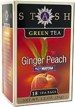 Stash Tea Stash Green Ginger Peach 18 Bg, Pack of 3