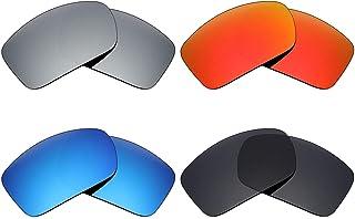 7824ddc2d5 MRY 4 pares polarizadas lentes de recambio para Arnette Freezer AN4155  sunglasses-stealth negro/