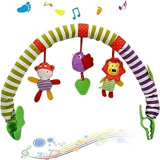 Excefore Baby Infant Kids Toy Soft Plush Stroller Clip Bed Crib Pram Hanging Animals Zebra Lion Monkey Arch Squeak/ Rattl...