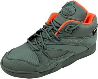 c0d5a0acd206 Reebok Men s Court Victory Pump Tech Green Orange M48995 Shoe