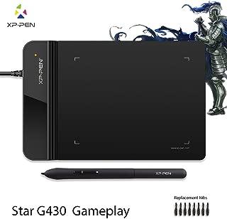 XP-Pen ペンタブレット ペンタブ 4*3インチ 2mm厚さ 8192レベル筆圧 イラスト入門用 OSU!ゲーム用 黒 StarG430S B