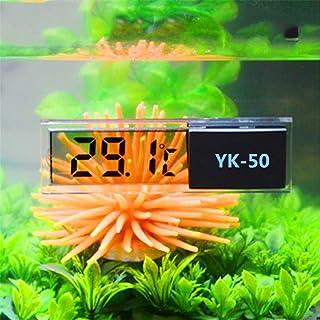 xdrfxrghjku Termómetro Acuario Multifuncional LCD 3D Digital Electrónica Medición De Temperatura Pescado Tanque Tempómetro...