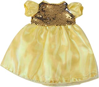 freneci Mini Summer Dress Short Sleeve Gauze Daily Clothes Dress up Accessories for 43-45cm Baby Doll - Yellow, 26cm