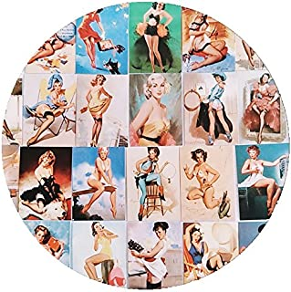 Yoogeer Stickers——100 Pcs Sexy Women Pin Up Pinup Girls Stickers Decals Vinyl Art Work Vintage Retro Stickers for Bumper Guitar Decals Phone Case Luggage Skateboard Wall Fridge Decals
