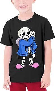Undertale Sans Youth Boy's&Girl's Soft Short Sleeve T-Shirt Black