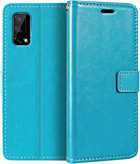Oppo Realme Narzo 30 Pro 5G Wallet Case, Premium PU Leather Magnetic Flip Case Cover with Card Holder and Kickstand for Op...