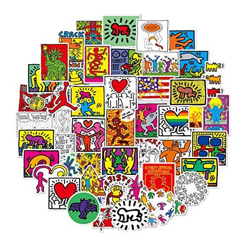 WWLL 50 Pegatinas de Dibujos Animados de Maletas Impermeables de Graffiti de Arte Callejero de Europa y América