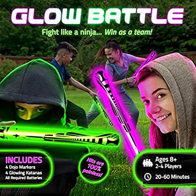 Starlux Games Glow Battle: A Ninja Game with Glow-in-The-Dark Foam Swords by Starlux Games