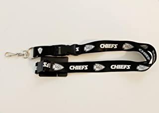 Pro Specialties Group Kansas City Chiefs Blackout Lanyard with Safety Latch