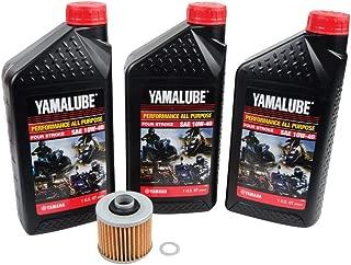 Tusk 4-Stroke Oil Change Kit Yamalube All Purpose 10W-40 - Fits: Yamaha Viking VI 700 4x4 2015-2019