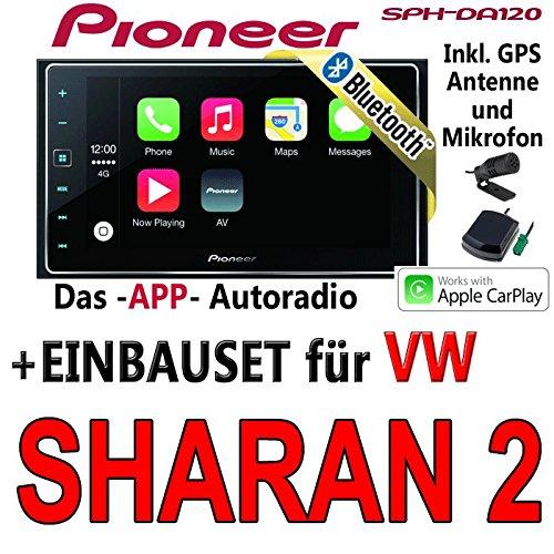 Pioneer SPH-DA120-2DIN USB Bluetooth Apple CarPlay Autoradio