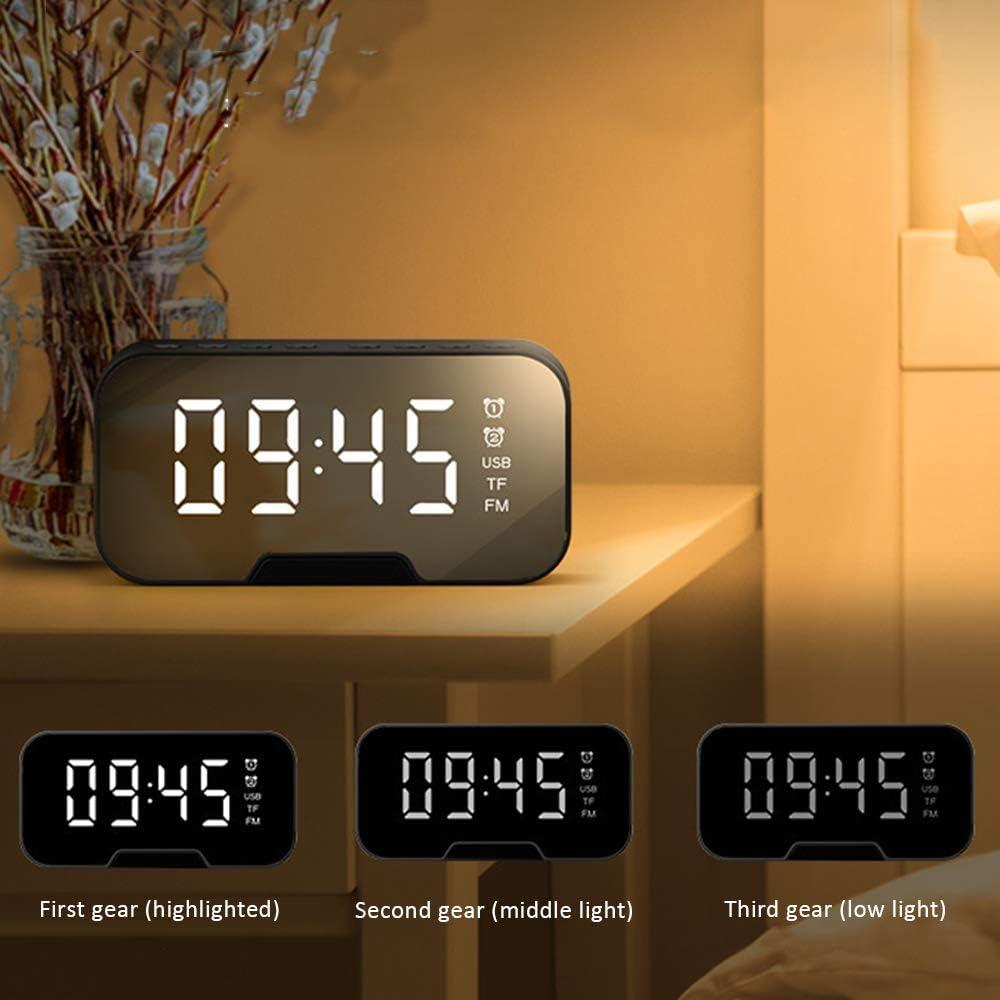 ZUHANGMENG Digital Alarm Clock USB Digital Desk Alarm Clock Wireless Fast Charger USB Digital Desk Alarm Clock Thermometer Telphone Wireless Charger For Mobile Phone Smart Products