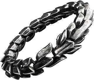 Bracciale drago cinese in acciaio al titanio per uomo gioielli in acciaio inossidabile 15mm