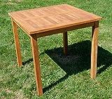 ASS Teak Holztisch Gartentisch Garten Tisch 80x80cm Gartenmöbel Holz sehr robust - 2