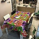Moderna Y Simple Serie De Flores De Plantas, Mantel Impreso, Poliéster, Impermeable Y Antiescaldamiento, Adecuado para Manteles De Varias Mesas