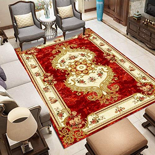 NF Alfombra vintage persa para sala de estar, dormitorio, antideslizante, estilo étnico, bohemio, marroquí, 40 x 60 cm