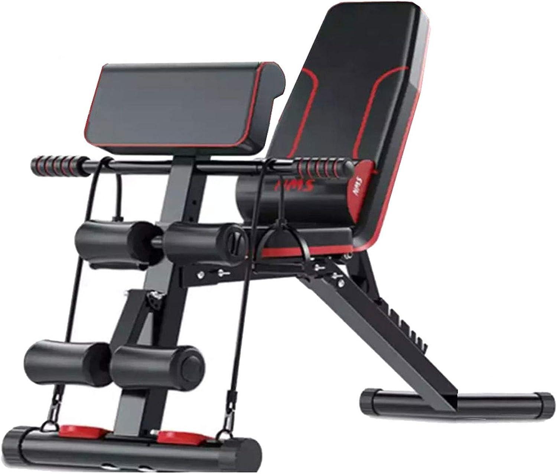 HJHY Banco de pesas ajustable para fitness - Banco de Musculacion Multifunción para Entrenamiento de Cuerpo Entero, Sistema para Entrenar los Abdominales, Compacto Diseño Antideslizante