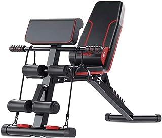 comprar comparacion HJHY Banco de Pesas Plegable - Banco de Musculacion Multifunción para Entrenamiento de Cuerpo Entero, Sistema para Entrena...