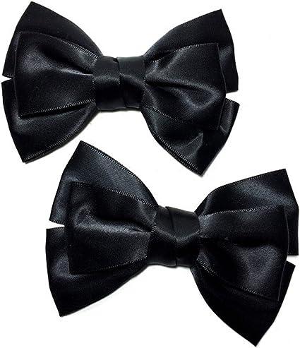 2 pack Schwarz Large Ribbon Bow Schuhe Clips Damen Schuhzubehör Charm