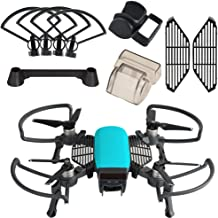 KUUQA 5 Pcs Accessories Kits Compatible with Spark, Including 2 in 1 Propeller Guard with Foldable Landing Gear, Gimbal Camera Guard, Lens Hood, Finger Guard Board, Joystick Protecto