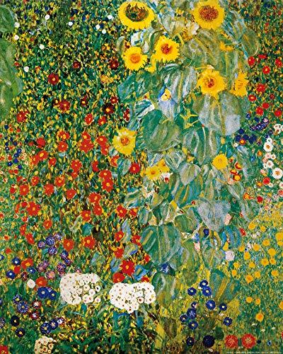 1art1 Gustav Klimt - Bauerngarten Mit Sonnenblumen, 1905-06 Poster Kunstdruck 50 x 40 cm