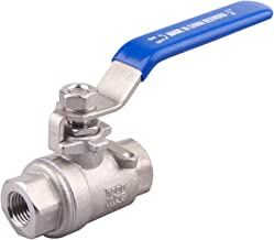 DERNORD Full Port Ball Valve Stainless Steel 304 Heavy Duty for Water, Oil, and Gas with Blue Locking Handles (1/2