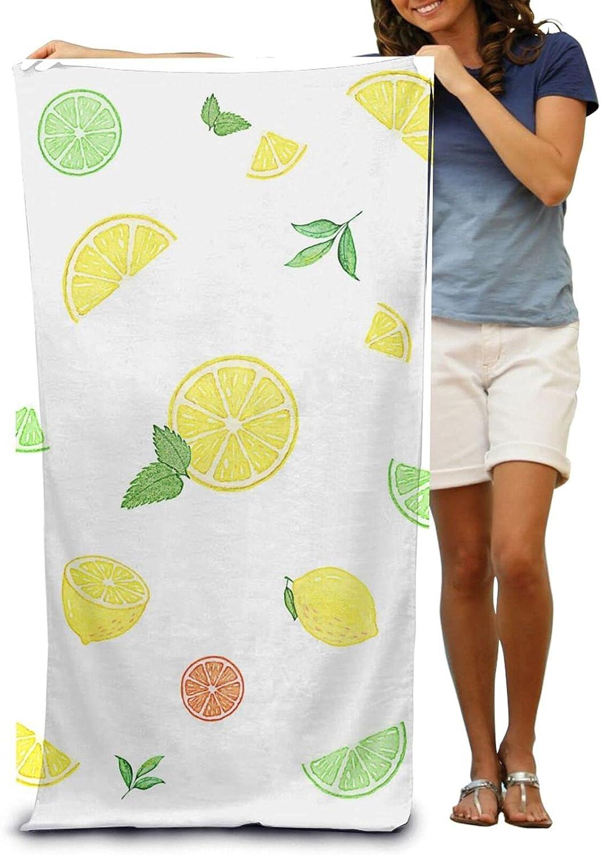 NINAINAI Max 88% OFF Super Soft Luxury Bath Towel Lemon Green Slice Max 41% OFF