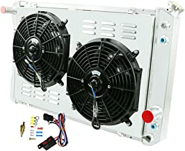 OzCoolingParts Pro 2 Row Core Aluminum Radiator + 2 x 12