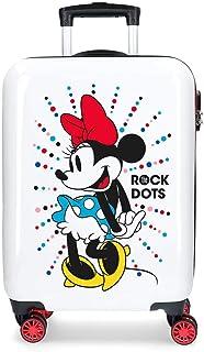 Disney Minnie Magic Maleta de cabina Blanco 37x55x20 cms Rígida ABS Cierre combinación 34L 2,6Kgs 4 Ruedas dobles Equipaje...