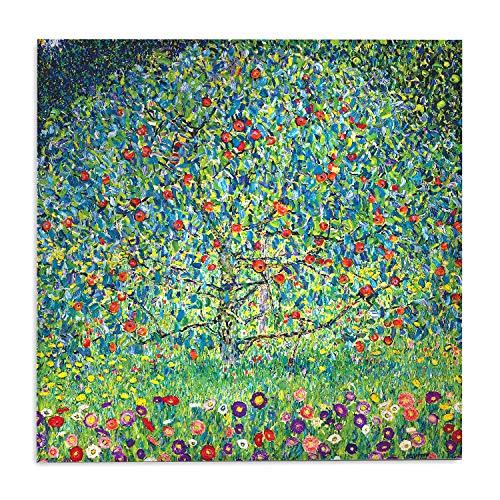 Giallobus - Bild - Gustav Klimt - Apfelbaum I - Druck auf Acrylglas Plexiglas - Bereit zum Aufhängen - Verschiedene Größen - 100X100 cm