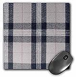 3dRose LLC 8 x 8 x 0.25 Inches Mouse Pad, Gray Tartan Pattern Contemporary Modern Preppy Plaid Grey and Black Fashionable Checkered Checks (mp_113032_1)