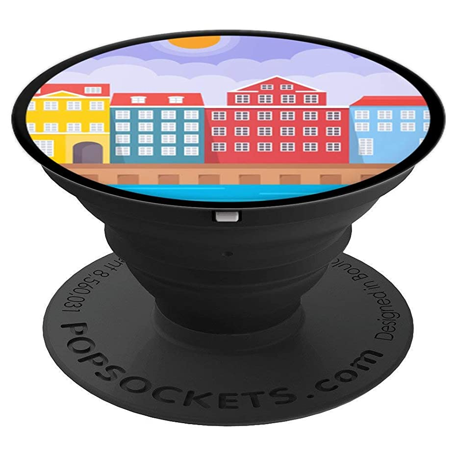 Cute Unique & Modern Copenhagen Denmark Art PACJ2244 - PopSockets Grip and Stand for Phones and Tablets
