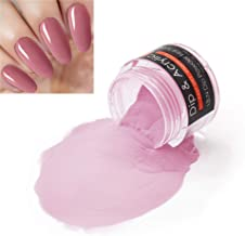 2 In 1 Nail Dip Powder & Acrylic Powder Pale Violet Red (Added Calcium and Vitamin) I.B.N Dipping Powder Color 1 Ounce, Non-Toxic & Odor-Free, No Need Nail Lamp Dryer (013)