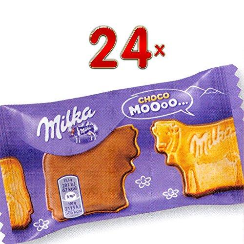 Milka Choco Moooo 24 x 40g Packung (Keks einseitig mit Milkaschokolade in Kuhform)