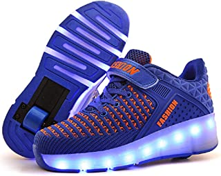 Ufatansy CPS LED Fashion Sneakers Kids Girls Boys Light Up Wheels Skate Shoes Comfortable Mesh Surface Roller Shoes Thanks...