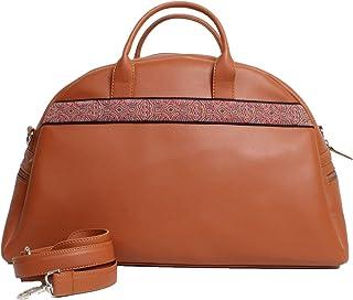 Travel Bag Embroidered Havane
