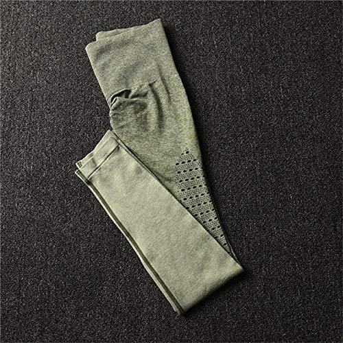 Yoga BH-tops,Naadloze buikcontrole yogabroek voor dames, elastische legging-CB1092 leger patn_L,Shirts Sport Running Gym Outdoor