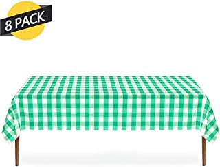 GREENRAIN 8-Pack Disposable Plastic Tablecloth 54