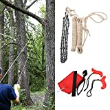 BEAMNOVA 48 Inch Rope Saw Hand Saw Gardening Double-Sided Pocket Chainsaw Kit with Rope Wire Saw for Tree Wood Pruning Branches Cutting Camping Outdoor Woodworking