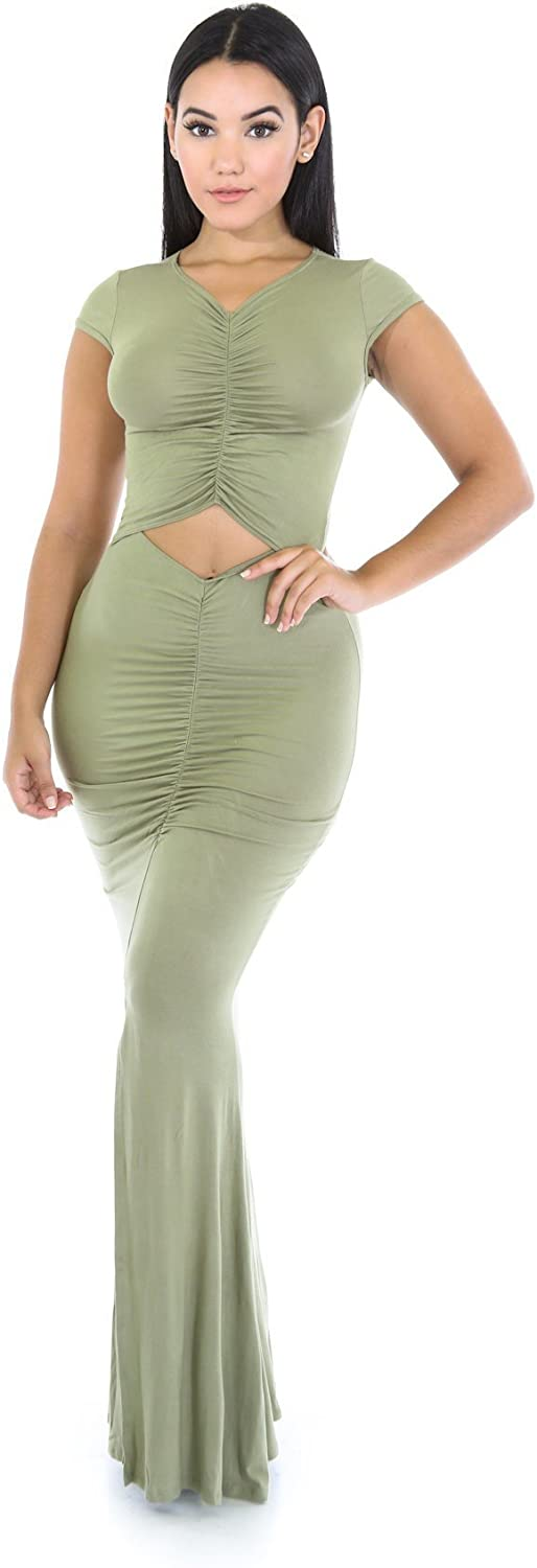 Flow On Stage Max 57% OFF Dress Courier shipping free L Olive