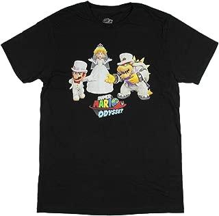 Super Mario Odyssey Men's Mario Peach Bowser Wedding T-Shirt