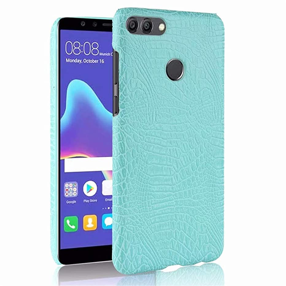 Huawei Y9 (2018) Case,Gift_Source Premium Crocodile Pattern PU Leather Case Slim Fit Hard PC Back Cover Protective Cell Phone Cases for Huawei Y9 2018/Enjoy 8 Plus (5.93