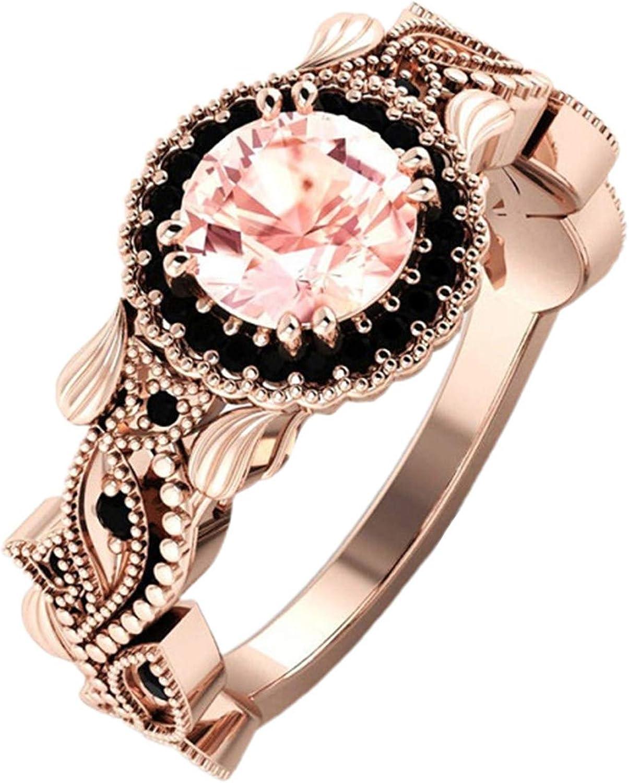 Gsdviyh36 Simple Fashion Elegant Woman Girl Jewelry 2Pcs/Set Fashion Flower Leaf Rhinestone Women Wedding Ring Jewelry Accessories