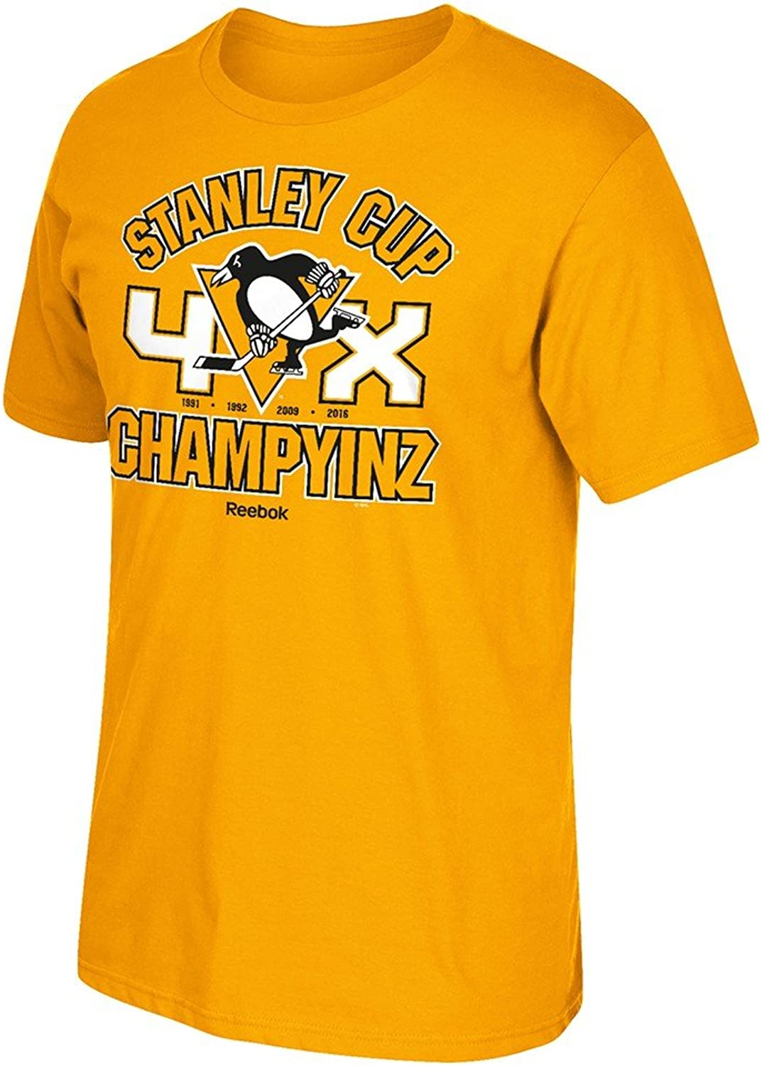 Pittsburgh Penguins gold 2016 Stanley Cup Champions 4X ChampYinz Tshirt