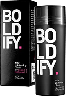 BOLDIFY Hair Fibers for Thinning Hair (DARK BROWN) 100% Undetectable Natural Fibers..