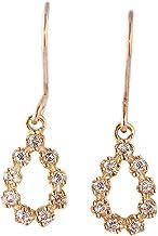 ダイヤ ピアス 天然ダイヤモンド しずく型 イエロー ゴールド プレゼント レディース パーティー 大人 かわいい 天然ダイヤ
