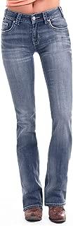 Women's Mid-Rise Bootcut Jeans in Dark Vintage W1-1007