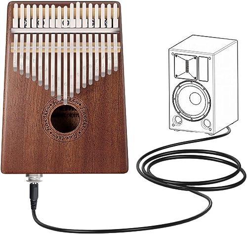 Kalimba 17 Clave Thumb Piano Instrumento con Herramienta de Ajuste y Bolsa de Transporte de Finether (Mahogany + pick...